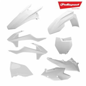 POLISPORT Kit Standard Plastice Enduro KTM EXC, EXC-F (14-16) WHITE