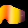 LENTILA 100% (RACECRAFT/ACCOURI/STRATA) OGLINDA ANTI-ABURIRE ROSU