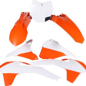 Polisport Plastic Kit Set Original 15 Complete Replacement KTM EXC/EXC-F (12-13) OEM COLOR
