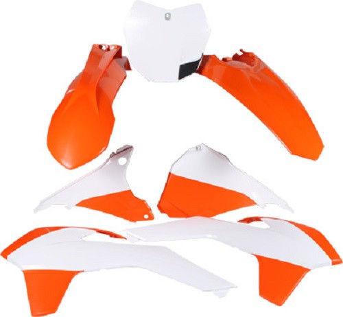 Polisport Plastic Kit Set Original 15 Complete Replacement KTM EXC/EXC-F (12-13) OEM COLOR